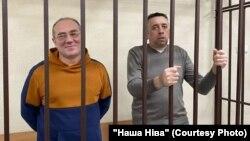 Блогеры Аляксандар Кабанаў і Сяргей Пятрухін