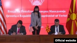 Премиерот Зоран Заев и потсекретарот за економски раст, енергија и животна средина во Владата на САД, Кеит Крач потпишаа меморандум за разбирање за безбедност на 5Г технологии