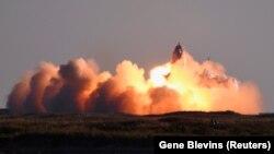 Прототип ракети Starship вибухає під час посадки. Техас, 9 грудня 2020 року