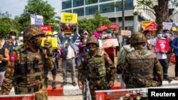 Protesti u Mjanmaru se nastavljaju, Jagon (15. februar)