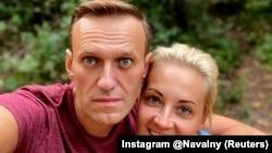 Alekszej Navalnij a feleségével