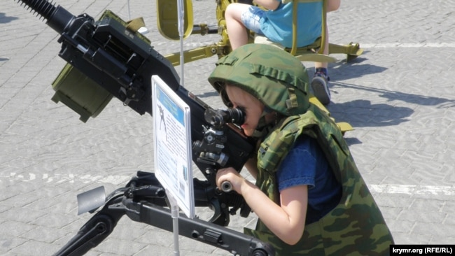 Выставка оружия в Севастополе, 29 мая 2021 года