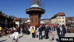 Vlada Kantona Sarajevo će subvencionirati dolazak 2.000 turista. (Foto: Sebilj na Baščaršiji u Sarajevu)