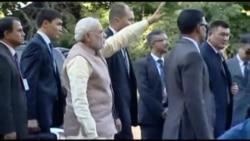 Как индийцы встречали премьера Моди в Бишкеке