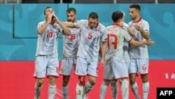 Букурешт- Македонските фудбалери на натправерот со Австрија на Европското првенство, 13.06.2021