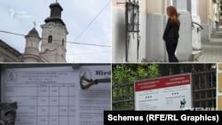 Біля церков, фінансованих Угорщиною, обов'язково є розклад богослужінь угорською мовою або ж за угорським часом