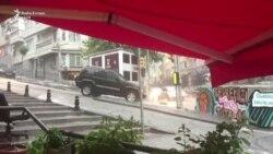 Shiu i furishëm në Stamboll shkakton vërshime