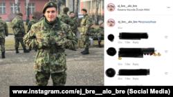 Dragan Grmuša na odsluženju vojnog roka