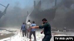 بوشهر بند کې اور لګېدنه
