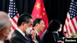 Primele negocieri directe între șefii diplomațiilor din Statele Unite și China, Alaska, 18 martie 2021.