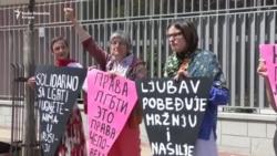 Beograd: Protest protiv progona LGBT osoba u Čečeniji