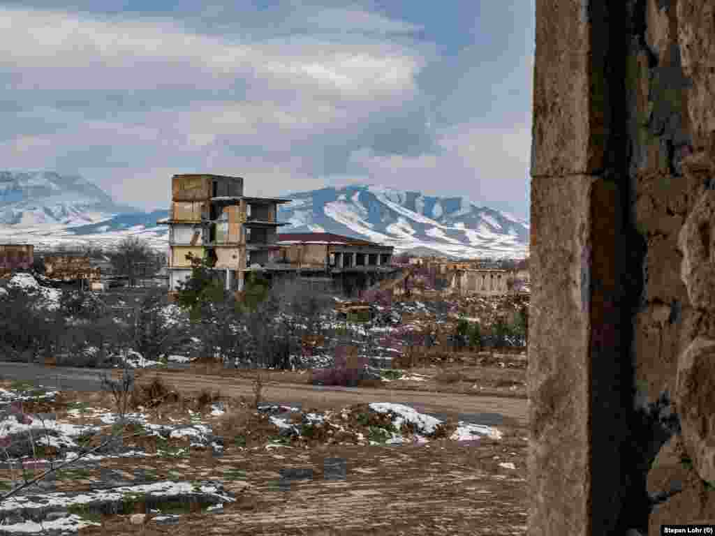 The destroyed city was near the front line of the simmering conflict between Azerbaijan and ethnic Armenian forces for decades after the war ended in 1994. Once home to tens of thousands of Azerbaijanis, they fled their homes as the Armenian forces captured it.