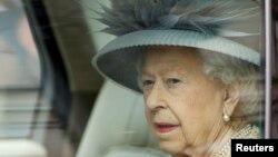 Королева Елизавета II прибыла в Палату лордов для тронной речи, Лондон, 11 мая 2021 года