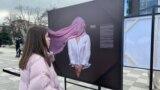 Выставка, посвященная проблеме домашнего насилия. Владикавказ, март 2021 года