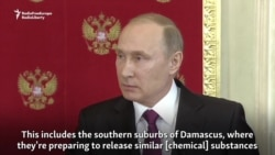 Putin Claims Chemical 'Provocation' Is Planned In Syria