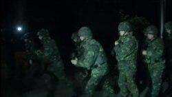 Ночные учения в Киеве
