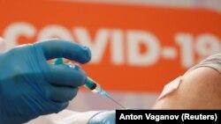 Vaccinare cu Sputnik V la Sankt Petersburg, 24 februarie 2021.