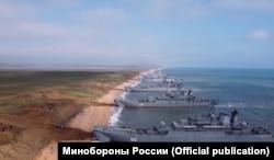 Корабли Черноморского флота России у берегов Крыма, апрель 2021 года