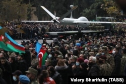 Egy Izraelben készített drón. Az azeriek bevetettek pilóta nélküli légijárműveket is, ami sokak szerint sikerük egyik záloga volt.