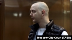 Ivan Safronov attends a court hearing in Moscow on June 30.