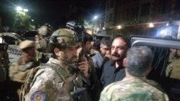 عبدالستار میرزکوال سرپرست وزارت داخله افغانستان با نیروهای ویژه در منطقه حمله مسلحانه در کابل
