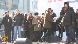 Митинг на Новом Арбате: Сергей Удальцов