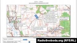 Карта-схема інциденту, зроблена російськими прикордонниками