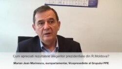 Marian-Jean Marinescu despre rezultatul alegerilor prezidențiale din Moldova