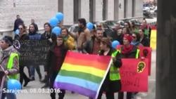 Osmomartovski marš u Sarajevu i Banjaluci