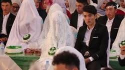 جشن عروسی دسته جمعی ۲۸۰ عروس و داماد در غرب شهر کابل