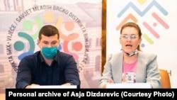 Asja Dizdarević na pres-konferenciji u Brčkom