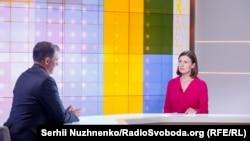 Джордж Кент и ведущая Елена Ремовская