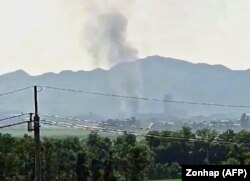 Pamje nga tymi i parë mbi Kaesong.
