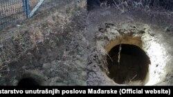 Tuneli koje su iskopali migranti kako bi prešli iz Srbije u Mađarsku, ispod ograde na granici