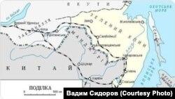 Украинская карта Зеленого Клина