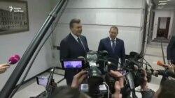 Активісти в Києві зірвали допит Януковича (відео)