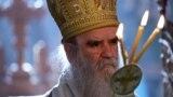 MONTENEGRO -- Metropolitan Amfilohije, the church's top cleric in Montenegro prays in Serbian Orthodox Moraca Monastery, August 28, 2020