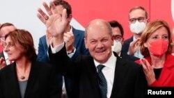 Лидерот на Социјалдемократската партија (СПД) и главен кандидат за канцелар Олаф Шолц