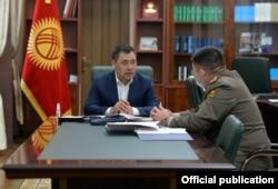 Садыр Жапаров и Уларбек Шаршеев. 26 октября 2020 г.