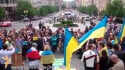 У Празі пройшла демонстрація під гаслом «За вашу і нашу свободу!»