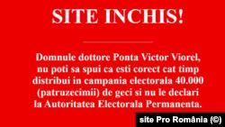 Pro Romania website