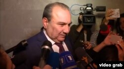 Armenia - Aram Hakobian, deputy director of the National Security Service, speaks to journalists, Yerevan, June 1, 2021.