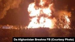 آتشسوزی تانکرها در شمال شهر کابل
