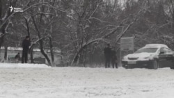Алматы в снежном плену
