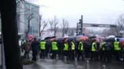 Протести пред ЕУ во Скопје