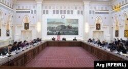 ملاقات هیئت گفتوگو کننده صلح با رئیس جمهور غنی