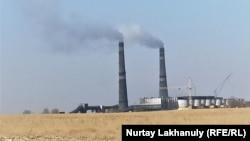 Алматыдағы №2 жылу электр орталығы. Алатау ауданы, 21 қазан, 2020 жыл.