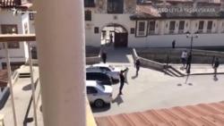 Одиночный пикет в защиту Ханского дворца в Бахчисарае (видео)