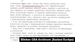 A Kossuth Rádió 1988. január 13-i Esti Magazin című hírműsorának átirata
