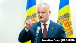 Outgoing Moldovan President Igor Dodon